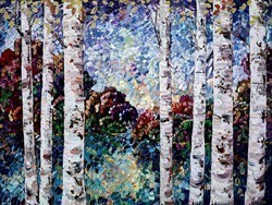 Tallest Trees III by Maya Eventov -  sized 48x36 inches. Available from Whitewall Galleries